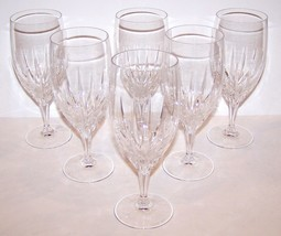 "LOVELY SET OF 6 NACHTMANN CRYSTAL VERTICAL CUT 7 5/8"" ICED BEVERAGE/TEA ... - $96.76"