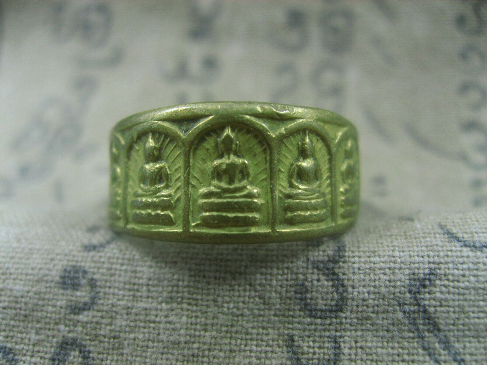 Primary image for HOLY BLESSED 5 FIVE BUDDHA MAGIC RING TOP LUCKY POWER RARE THAI BUDDHA AMULET