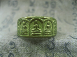 HOLY BLESSED 5 FIVE BUDDHA MAGIC RING TOP LUCKY POWER RARE THAI BUDDHA A... - $29.99