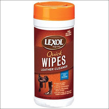 MANNA PRO LEXOL DISPOSABLE QUICK WIPES LEATHER CONDITIONER 25 MOISTENED ... - $16.95