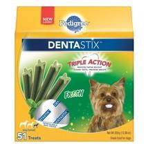 PEDIGREE DENTASTIX Fresh Flavor Dog Dental Play Sticks Small Dog 51 Treats - $18.94