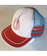 Vintage 70s 80s UD Dayton Flyers Trucker Mesh Baseball Cap w/Stripes MAD... - $35.63