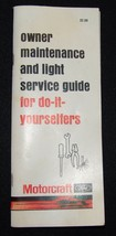 Ford Motorcraft Owner Maintenance and Light Service Guide Manual  Vtg ID... - $16.21