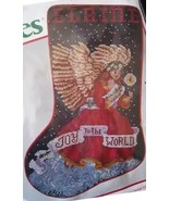 Stocking Kit Needle Treasures Christmas Cross Stitch JOYFUL ANGEL 02909 ... - £30.62 GBP