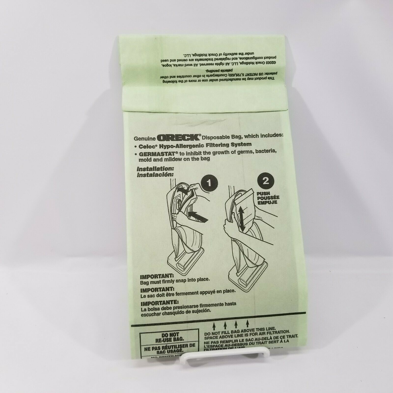 Set of 5 Genuine OEM Oreck XL Type CC Vacuum Cleaner Bags XL2000 XL8000 XL9000 image 4