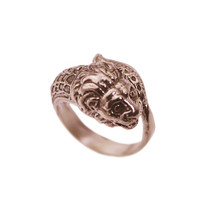 Chinese New Year Dragon Lion Dance Parade Ring Rose Gold Pltd dignity Lu... - $37.65