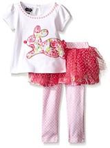 Mud Pie Toddler Girls' 2 Piece Bunny Tutu Set, Pink, 3T - $31.00