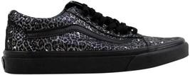 Vans Old Skool Black/Metallic Leopard VN0004OJJQC Men's SZ 4 - $34.27