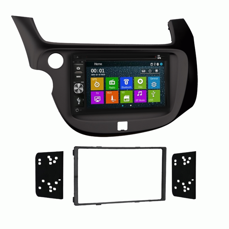 DVD CD GPS Navigation Multimedia Bluetooth Radio and Dash Kit for Honda Fit 2013