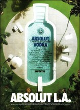 Absolut Vodka 1987 L.A. Los Angeles California ad 8 x 11 advertisement p... - $4.95
