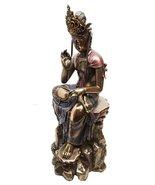 BODHISATTVA COMPASSION KUAN YIN GUANYIN MEDITATING STATUE SCULPTURE - $65.33