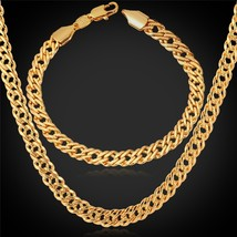18K Stamp Gold Men Jewelry Rose Gold/Platinum Plated Vintage Necklace A8... - $18.00+