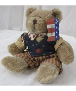 "2005 March of Dimes Plush Teddy Bear Patriotic Flag Bear Plushland 8.5"" - $8.90"