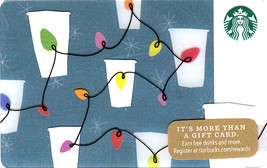 Starbucks 2017 Holiday String Lights Collectible Gift Card New No Value - $4.99