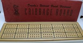Vintage Drueke Natural Finish Hardwood Cribbage Board VG cond - READ DESCRIPTION - $13.78
