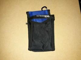 Nintendo DS Lite DSI 3DS Black & Blue Nylon Carry Travel Case with Carabiner - $9.79