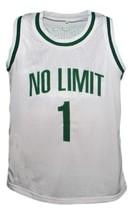 Master P #1 No Limit Basketball Jersey New Sewn White Any Size image 1