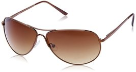 Fastrack Aviator Unisex Sunglasses - (M050BR5|64|Brown) - $74.99