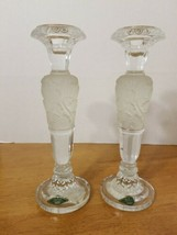 SHANNON CRYSTAL FROSTED PILLAR CANDLE HOLDERS - $59.95