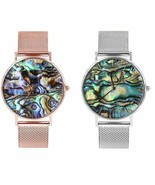 Ocean Shell Women Watch Wristwatches Stainless Steel Bracelet Lady Femal... - $450,36 MXN+