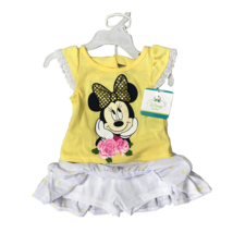 DISNEY MINNIE MOUSE 2 PIECES SET 12-24 MONTHS (12 MONTHS, YELLOW) - $10.77
