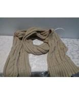 $58.00 Calvin Klein Lurex Trim Cable Knit Scarf - HEATHER ALMOND , - $26.38