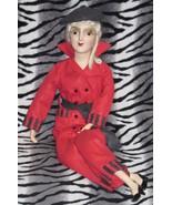 Boudoir Bed Flapper Smoker Doll Felt Pantsuit Outfit fits Cubeb anita & ... - $87.12