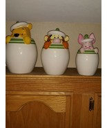 Disney Characters Pooh, Tigger  and Piglet set of Peek A Boo Canisters J... - $99.00