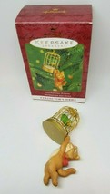Hallmark Keepsake MISCHIEVOUS KITTENS Tabby Cat 2nd Birdcage Christmas O... - $14.99