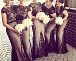 Ng cap sleeves lace mermaid formal free custom handmade bridesmaid dresses  pd0249 thumb155 crop