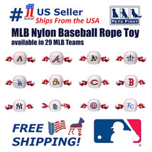 Pet First MLB Nylon Baseball Rope Toy for DOGS & CATS. Heavy-duty, with ... - $11.99