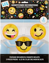LOL Emoji Emoticons Cute Kids Birthday Party Honeycomb Decorations - $11.66