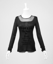 NEW Punk Rave Gothic Black Top Long Sleeve Shirt PT-019 FAST POSTAGE - $23.99