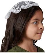 CHAPEL VEIL CATHOLIC GIRL'S SMALL WHITE CAP HAIR ACCESSORY - $18.80