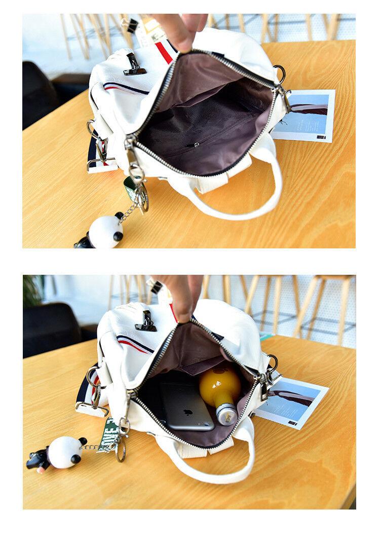 Amazing Women Backpack Fashion Bag Cute Keychain Tassel Shoulder Elegant Zipper