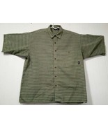 Patagonia Men's Green L short-sleeve button-down checkered Breast Pocket... - $21.34