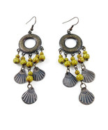 Yellow and Brass Ethic Boho Earrings by VINTAGIES EARRING *0* Limited - $5.94