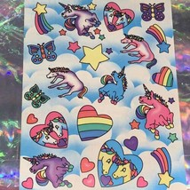 Vintage  Mint Lisa Frank Full Sticker Sheet Markie Unicorn S126
