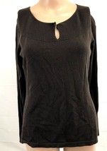 Ann Taylor size M Keyhole Long Sleeve Sweater Brown - $30.00
