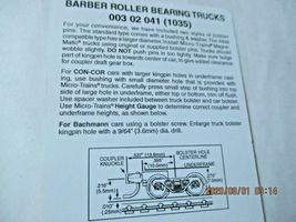 Micro-Trains Stock # 00302041 (1035) Barber Roller Bearing Truck Short Extension image 4