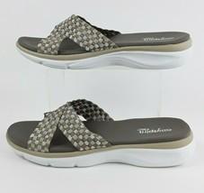 Easy Spirit Womens Slide Sandals Gray Tan E360 Shoes Size 11-12 Medium EUC - $18.16