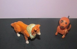 Fisher Price Vintage Little People 2 dog lot brown cream collie spots he... - $10.68