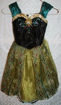 Disney Frozen Anna Coronation Girls S 4X 6X Costume Dress Halloween Prin... - $606,63 MXN
