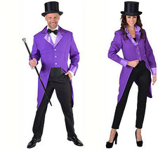 Gent's Purple Tailcoat Jacket - Joker / Show / Cabaret / Clown   - $34.19+