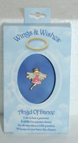 DM Merchandising Wings Wishes Angel of Dance Pink Green Colored Angel