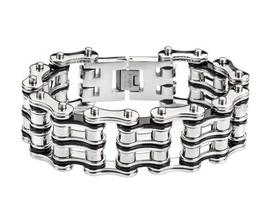 "9.5"" Length Mens Biker Chain Bracelet Baddest On The Planet 1 Inch - $35.00"