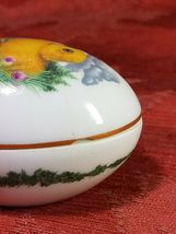 SMALL FRANKLIN PORCELAIN EASTER 1982 EGG TRINKET BOX COLLECTIBLE image 5