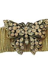 Butterfly Stretch Bracelet Noblesse Boho Austrian Crystals Lead & Nickel... - $9.49