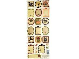 K&Company Autumn Spice Icon Embossed Sticker Set #151949