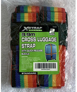 2 Pack Cross Luggage Suitcase Adjustable Straps Rainbow Colors Pride LGB... - $22.72